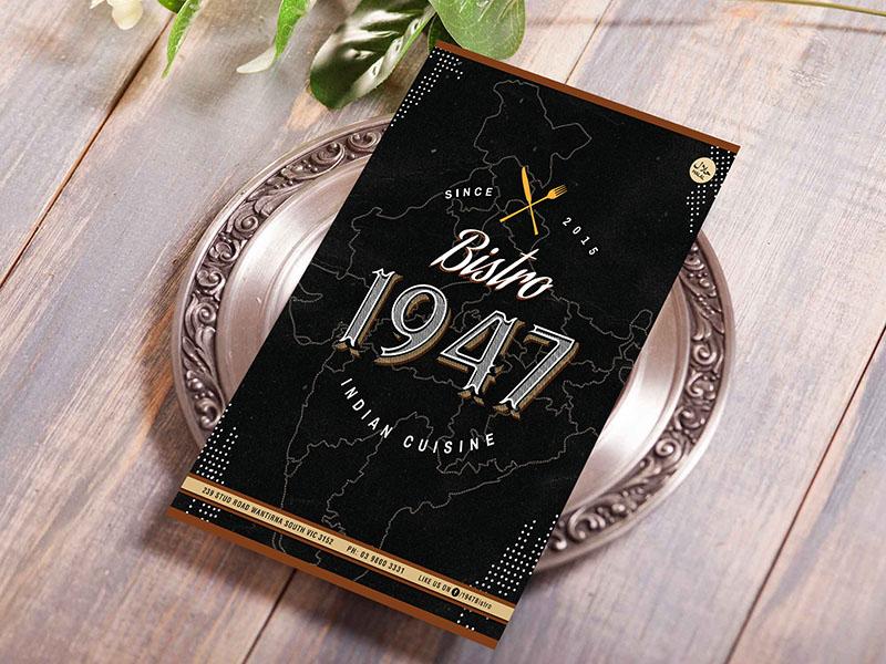 1947 Bistro Dine in Menu